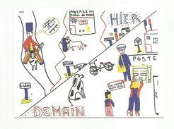 LA POSTE VALORISATION DU SERVICE PUBLIC - DESSIN D'ENFANT - Postal Services