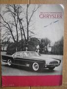 Revue CHRYSLER N°4 OCTOBRE 1956 - 16 PAGES - Voitures