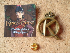 Pin's  ** King's Quest  ** Jeu Video Sierra Games - Jeux
