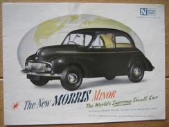 Dépliant Publicitaire De 1948 Automobile MORRIS MINOR - La Petite Voiture Suprême Dans Le Monde - 8 Pages - Voitures