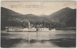 """Gruss Vom Dampfer """"Albrecht"""" - Donau - Paquebots"""