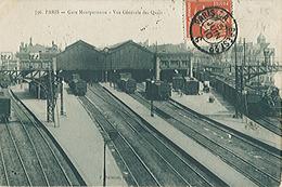 PARIS (75) La Gare Montparnasse  Vue Générale Des Quais - Carte Postée - Très Très Rare - Stations, Underground