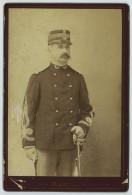 Cabinet Militaire 1880-90 E. Martin à Dole . Commandant Chargé Des Eaux Et Forêts . - Antiche (ante 1900)