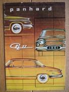 Dépliant Publicitaire De 1961 Automobile PANHARD PL 17 - Voitures