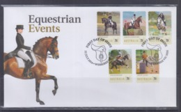 Australia 2014 Equestrian Events Self-Adhesive Stamps FDC - FDC