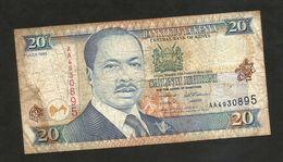 KENYA - CENTRAL BANK Of KENYA - 20 SHILLINGS (1995) - D. TOROITICH ARAP MOI - Kenia