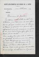 EQUITATION LETTRE COMMERCIALE DE 1934 SOCIETE DEPARTEMENTALE DES COURSES DE LA SARTHE LE MANS : - Equitation
