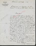 EQUITATION LETTRE COMMERCIALE DE 1934 SOCIETE DE COURSES D AVRANCHES   : - Equitation