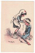 POULBOT (illustrateur) N° 203 : ENFANTS FILLE CROIX ROUGE SOIGNE GARCON SOLDAT MILITAIRE FUSIL BLESSÉ - Poulbot, F.