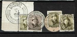 165 Et 166 X 3  Obl - 1919-1920 Roi Casqué