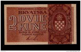 CROATIA 2 KUNA 1942 PICK # 8a AUNC - Croatia
