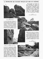 LA DESTRUCTION DES PAYSAGES FRANCAIS   ( LES GRES DE L'ESSONNE ) 1906 - Ile-de-France