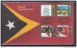 Timor Leste 2002 Independence 1st Issue FDC - Timor Oriental