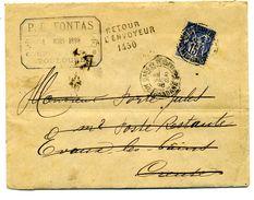 Magnifique Lettre Facture Retour à L'envoyeur Cachet Toulouse Timbre YT 90   Dossier Factures 12 - 1877-1920: Periodo Semi Moderno