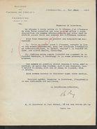 EQUITATION LETTRE COMMERCIALE DE 1934 SOCIETE DES COURSES DE CHEVAUX DE CHERBOURG  : - Equitation