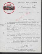 EQUITATION LETTRE ILLUSTREE COMMERCIALE DE 1934 SOCIETE DES COURSES DE MONTLUCON X NERIA MONTLUCON : - Equitation