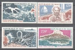 Mali 1975 Yvert 239-42, Jules Verne - Airmail - MNH - Mali (1959-...)