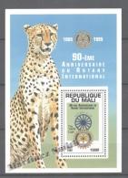 Mali  1995 Yvert BF 38, 90th Anniv. Rotary Club International - Miniature Sheet - MNH - Mali (1959-...)
