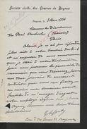 EQUITATION LETTRE  COMMERCIALE DE 1934 SOCIETE CIVILE DES COURSES DE BAYEUX : - Equitation