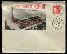 France - Entier Postal Type Paix , Timbré Sur Commande Pour L 'Exposition Philatélique De Lille En 1933 - Ref O153 - Postal Stamped Stationery