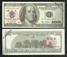 USA . BILLET DE 100 DOLLARS . FACTICE . - Etats-Unis
