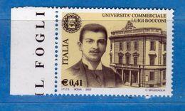 Italia ** -  2002 -  Università Luigi Bocconi - Unif. 2640  Nuovo .  Vedi Descrizione - 6. 1946-.. Repubblica