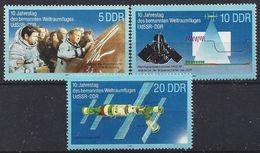 Germany (DDR) 1988  Weltraumfluges UdSSR-DDR (**) MNH  Mi.3170-3172 - [6] Democratic Republic