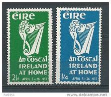 """Irlande 1953 N°118/119 Neufs * MLH Festival """"Irlande Chez Elle"""" - 1949-... République D'Irlande"""