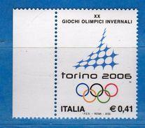 Italia ** - Anno 2002 -  TORINO 2006 - Giochi Invernali . Unif. 2643.    Vedi Descrizione. - 6. 1946-.. Repubblica