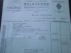 PARIS - Ets DELAVENNE - Facture Du 8 Septembre 1949 - Pour Une Renault R 1060 - A Voir ! - Cars
