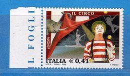 Italia ** - Anno 2002 -  EUROPA Il CIRCO . Unif. 2657.    Vedi Descrizione. - 6. 1946-.. Repubblica