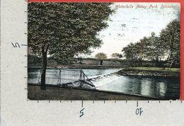 CARTOLINA VG REGNO UNITO - LEICESTER - Waterfalls Abbey Park  - 9 X 14 - ANN. 1910 - Leicester