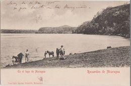 CPA NICARAGUA Recuerdos En El Lago De Managua Timbre Stamp 1905 - Nicaragua