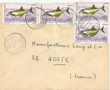 RCA CAR Centrafrique 1972 Mobaye Monteiri's Bulldog Freshwater Fish Marcusenius Monteiri Cover - Centraal-Afrikaanse Republiek