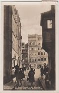 CPA POLOGNE POLAND POLSKA VARSOVIE WARSAW WARSZAWA Ul Waski Dunaj Na St Miescie Real Photo 1930 - Polen