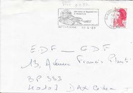 PYRENEES ATLANTIQUES  64 -  MAULEON SOULE   -  FLAMME N° 8767 - VOIR DESCRIPTION  - 1989  - THEME ARTISANAT ESPADRILLES - Marcophilie (Lettres)