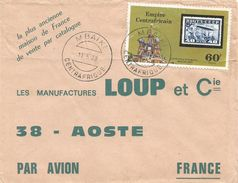 RCA CAR Empire Centrafrique 1978 Mbaiki Moscow Russia Stamps On Stamps Cover - Centraal-Afrikaanse Republiek