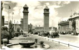 BARCELONA  POSTAL FOTO Años 1950 MUCHOS COCHES - Barcelona