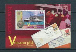 2011 Tristan Da Cunha Complete M/Sheet Volcano,ship,boat MNH/Postfris/Neuf Sans Charniere - Tristan Da Cunha