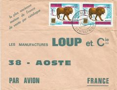 RCA CAR Empire Centrafrique 1977 Grimari Lion Overprint Cover - Centraal-Afrikaanse Republiek