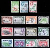 Nyasaland 1953-1954 MNH/MH Set SG 173/187 Cat £65 - Nyasaland (1907-1953)