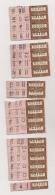 20 TICKETS ( RB1  à  RB20 ) ANCIENS TRAMWAYS AUTOBUS PARIS TCRP / PUB PUBLICITE DUBONNET  VIN QUINQUINA  Cpa1258 - Tram
