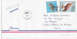 Lettre Pour La France Marque Taxe Réduite Imprimés Lemurien Et Rapace - Madagascar (1960-...)