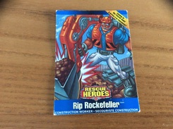 Carte Matell RESCUE HEROES «Rip Rockefeller» - Trading Cards