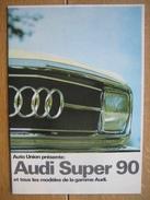 Catalogue Publicitaire De 1967 Automobile AUDI SUPER 90 - 16 PAGES - Voitures
