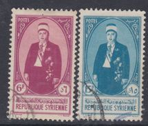 Syrie N° 264 / 65 O Président Taj Eddin Et Hassani, Lers 2 Valeurs Oblitérations Légères Sinon TB - Syria (1919-1945)