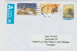 B375 / Schöne Mischfrankatur (3 Marken) 2017 Nach Spanien - Briefe U. Dokumente