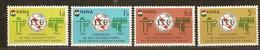 Ghana 1965 Yvertn° 193-196 *** MNH Cote 45 FF UIT ITU - Ghana (1957-...)