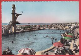 CPSM *62* LE TOUQUET-PARIS-PLAGE - Ann. 1950 * PISCINE MARINE _ NOUVEAU PLONGEOIR  * Animation TOP* 2 SCANNS Recto/verso - Le Touquet