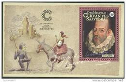 Uruguay 2016 ** HB 400 Años De Miguel De Cervantes. See Desc. - Escritores